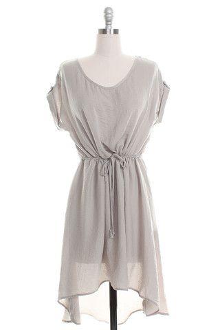 $49. Peppermint High Low Tie Waist Dress