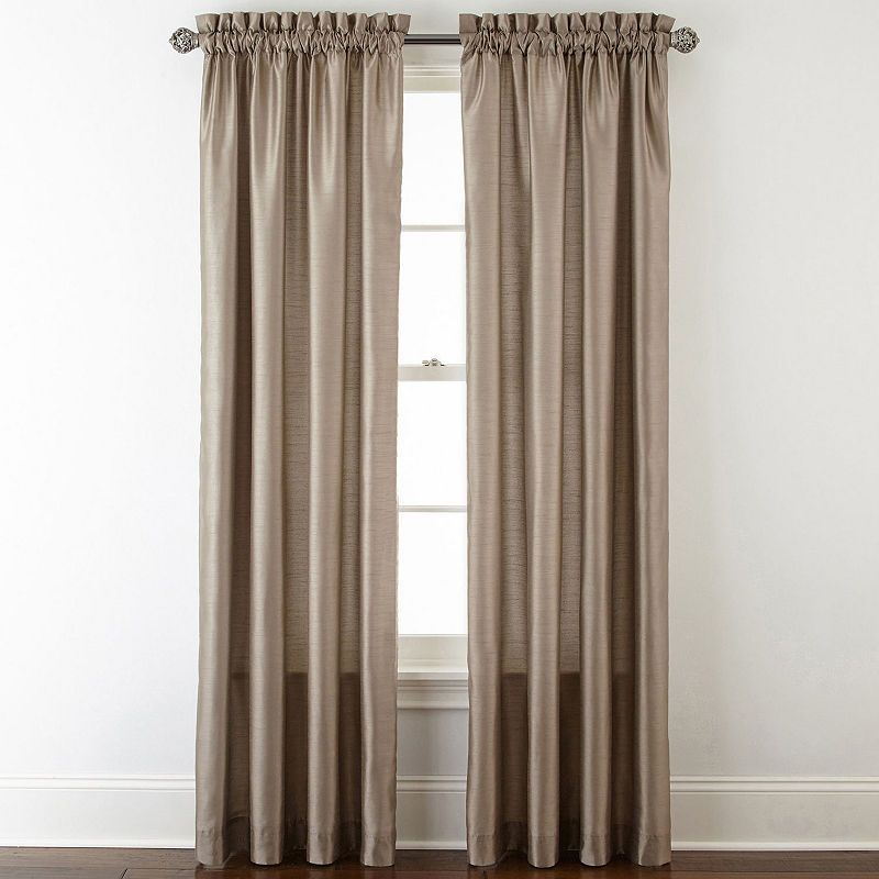 Jcpenney Home Plaza Thermal Rod Pocket Curtain Panel Rod Pocket