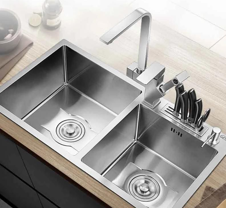 Vertigo Stainless Steel Double Kitchen Sink Double Kitchen