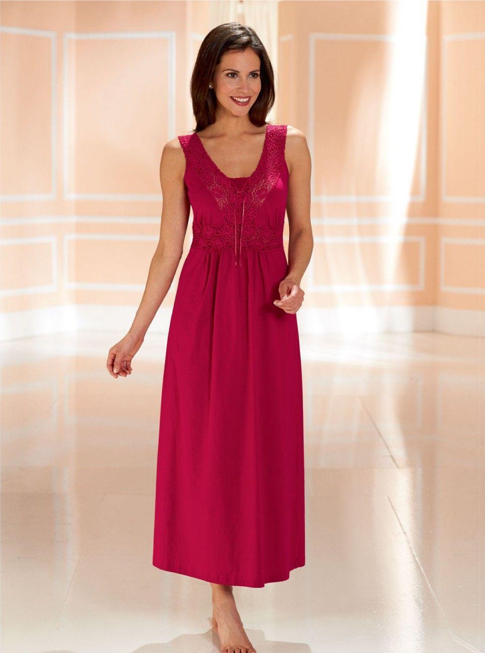 Lacy Jersey Nightdress by David Nieper davidnieper.co.uk Night Shirts For  Women 96b1c031b
