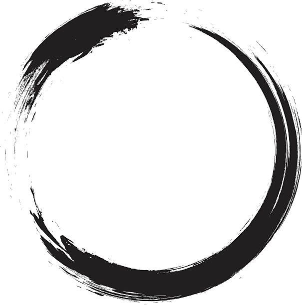 Enso Circular Brush Stroke Japanese Zen Circle Calligraphy N 1