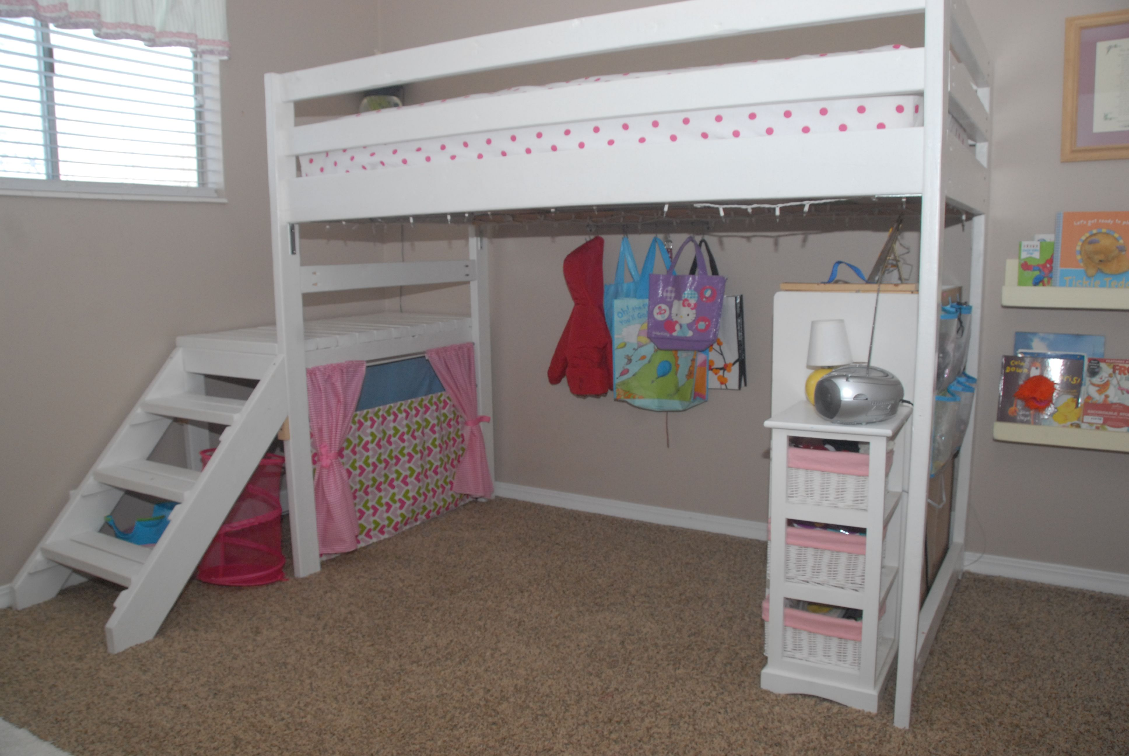 Diy Twin Loft Bed For Under 100 With Images Loft Bed Plans