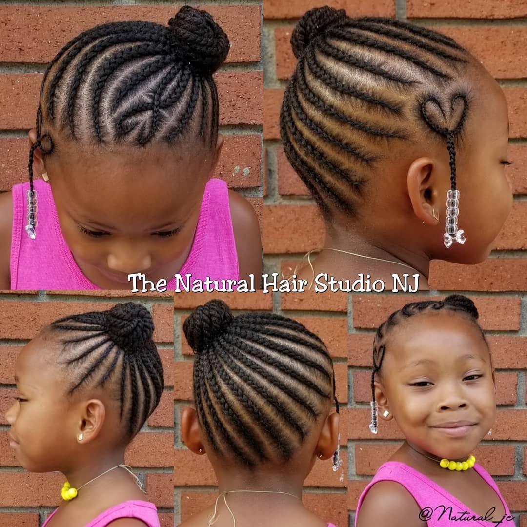 Cornrow Side Bun No Added Hair Natural Jc