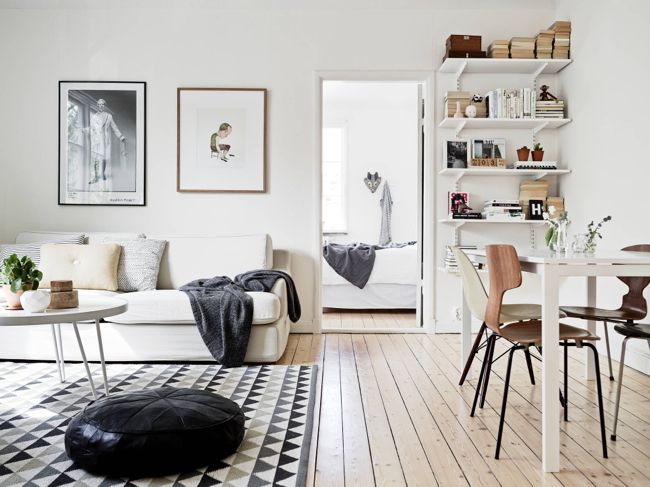 Nordic Living Room Simple And Basic Bracket Shelves Nordic