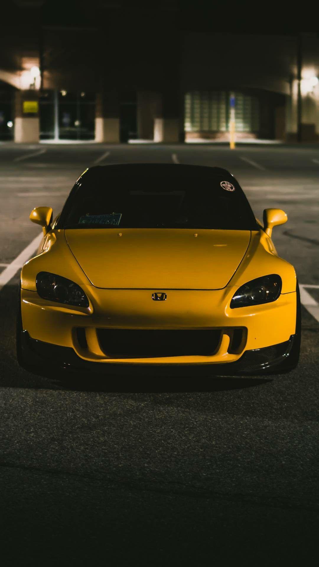 Yellow car Honda s2000, Honda, Car
