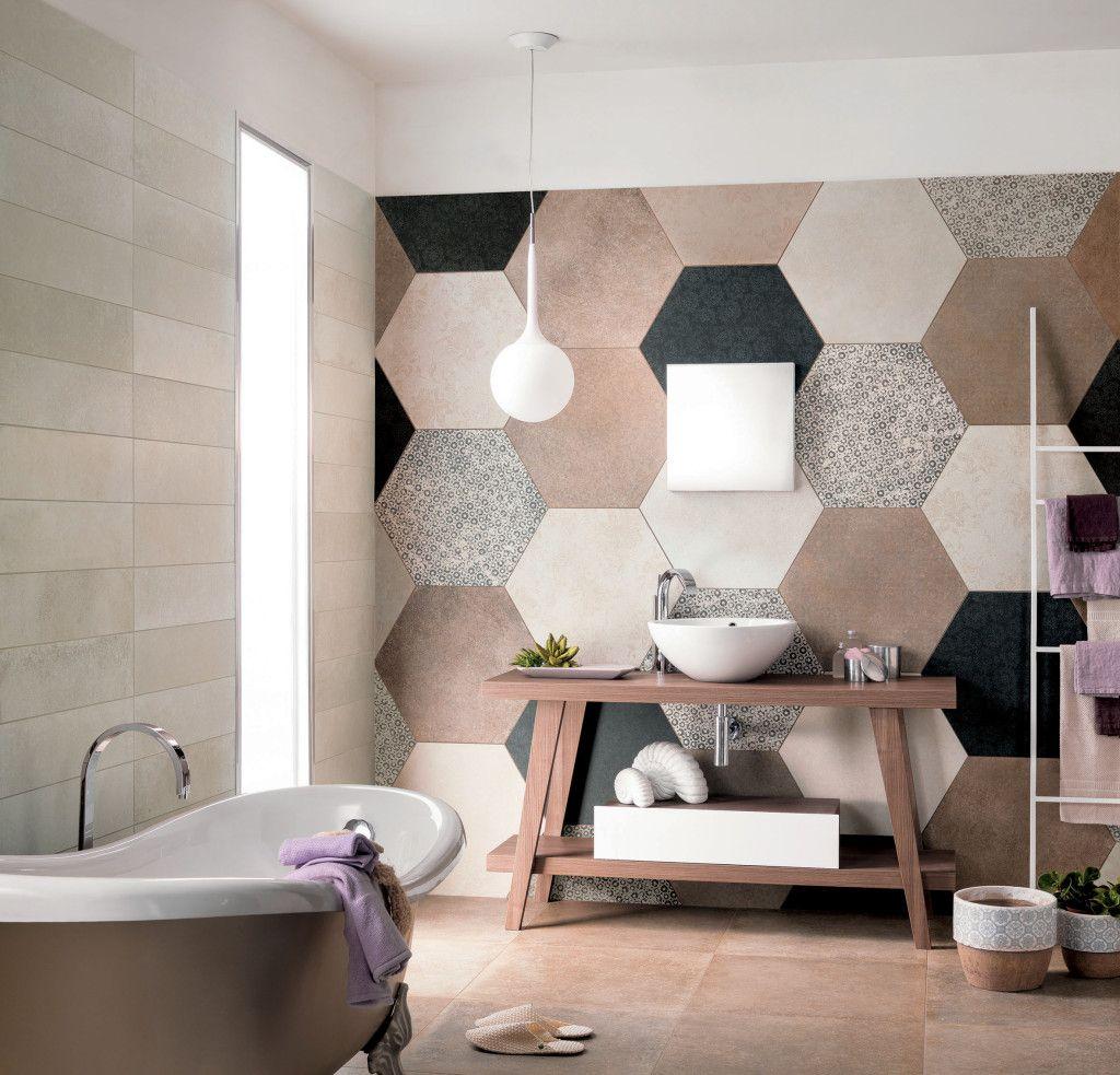 Love The Giant Quilt Effect Of The Wall Tile Elegant Home Decor Floor Carpet Tiles Bathroom