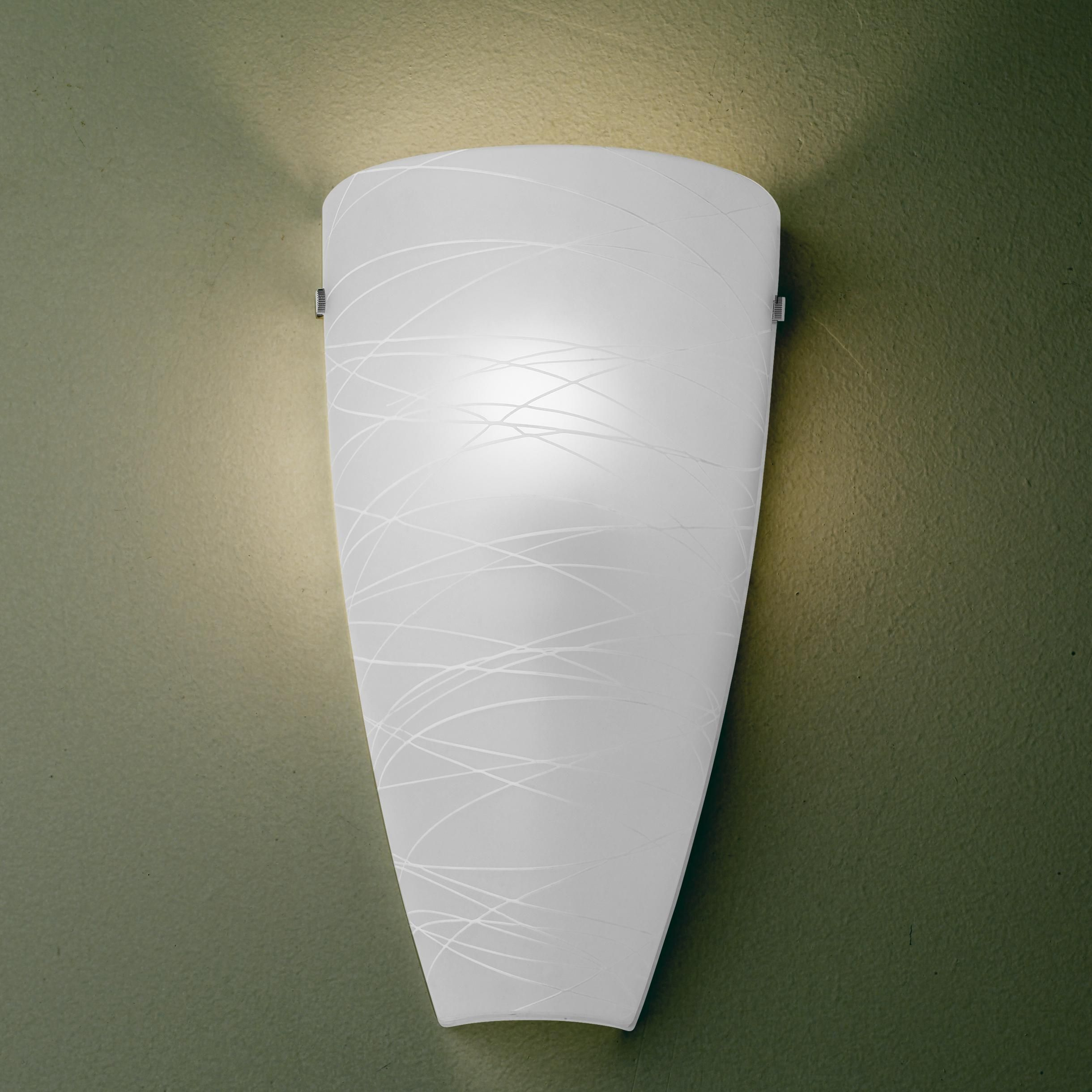 Art Glass Wall Sconce Possini Euro 13 1 4 Quoth White Striped Art Glass Wall Sconce