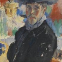 Zelfportret met sigaar