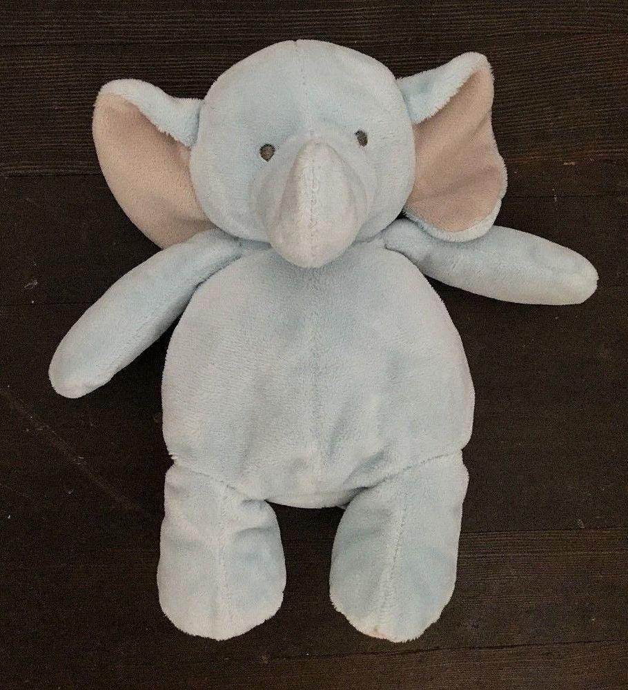 Carters Plush Elephant Blue Gray Stuffed Animal Rattle 61298 Carters Grey Stuffed Animals Elephant Plush Elephant Stuffed Animal
