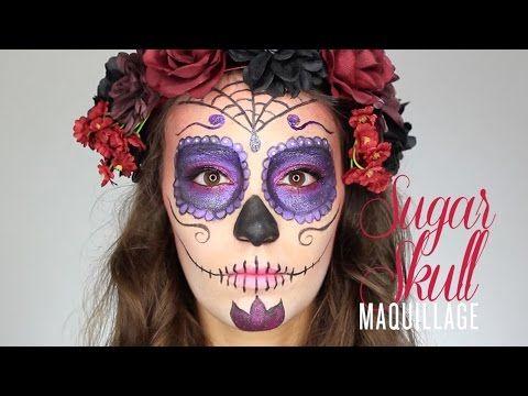 tutoriel vid o fran ais pour un maquillage d 39 halloween sugar skull trucs et astuces des. Black Bedroom Furniture Sets. Home Design Ideas
