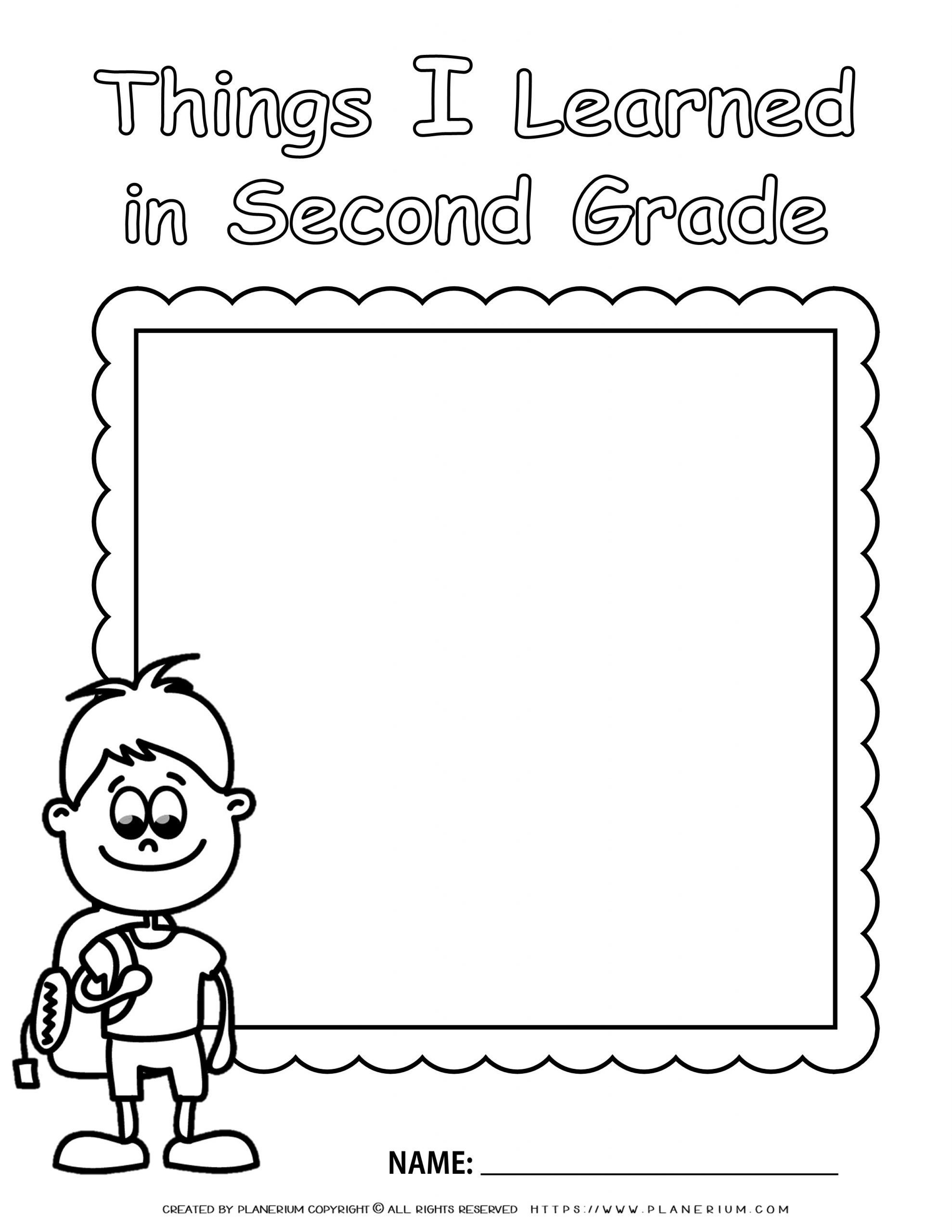 End Of Year Worksheet Second Grade Review For Boy Planerium Second Grade Creative Writing Worksheets First Grade Teachers