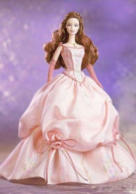 Hand Made Flowers and Embroidery Ball Gown Champagne Barbie Doll ...