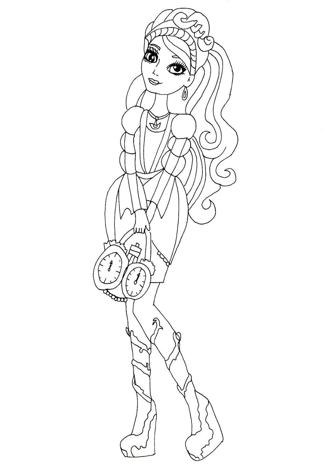 Ashlynn Ella Ever After High Coloring Page Coloring Pages
