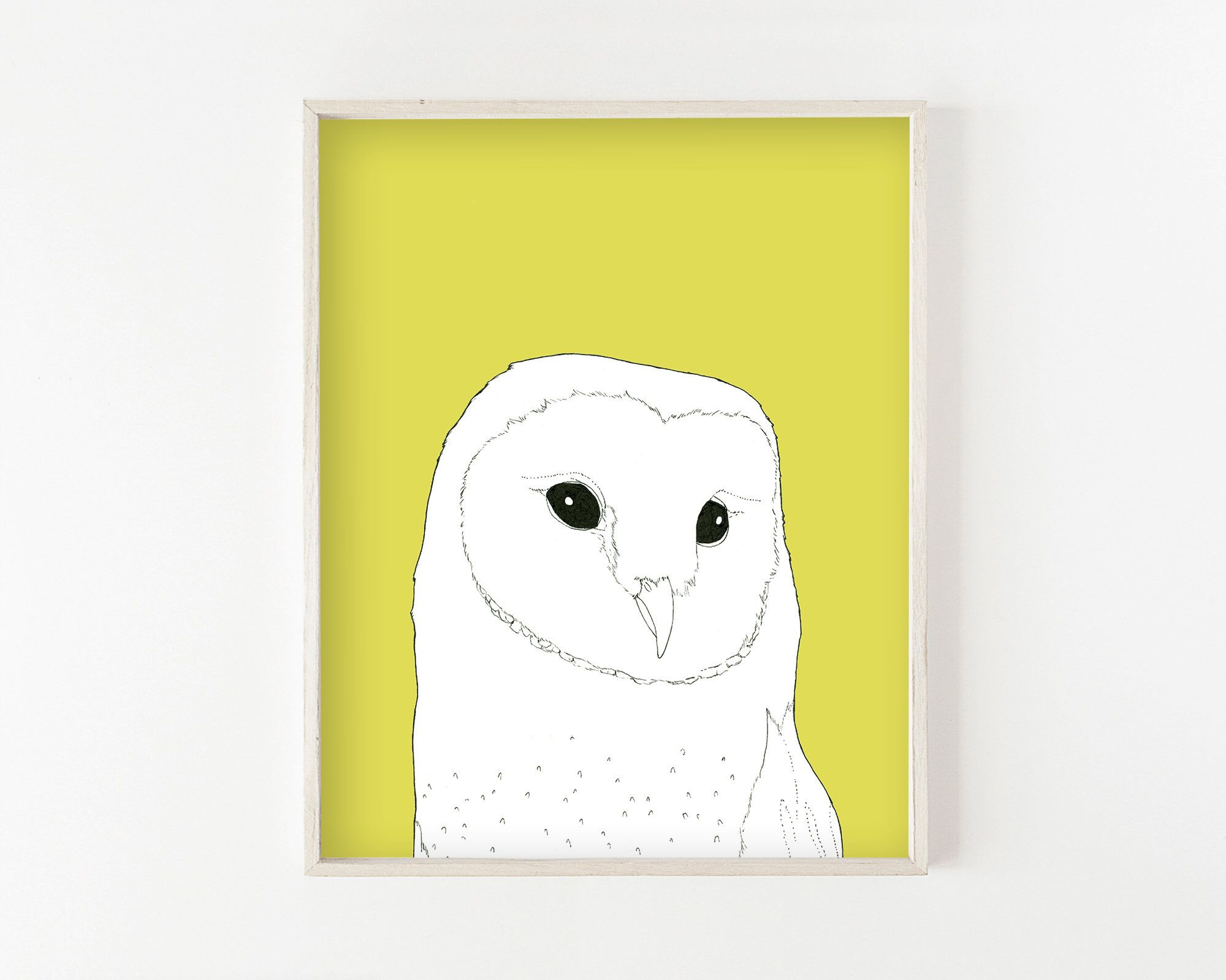 barn owl, ink drawing, woodland animals, woodland nursery, woodland ...