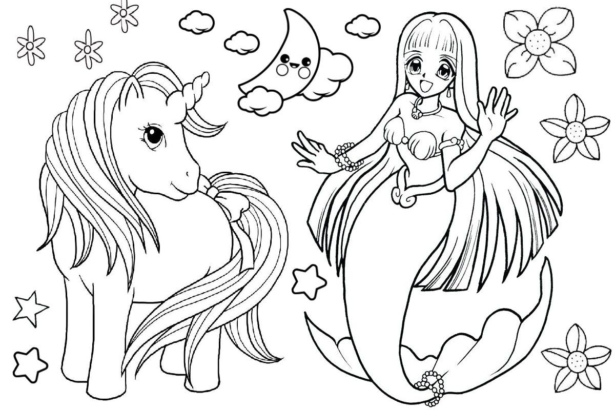 Mermaid Coloring Pages Relive Your Childhood Free Printable For Unique Coloring Jurnalist Unicorn Coloring Pages Mermaid Coloring Book Mermaid Coloring Pages