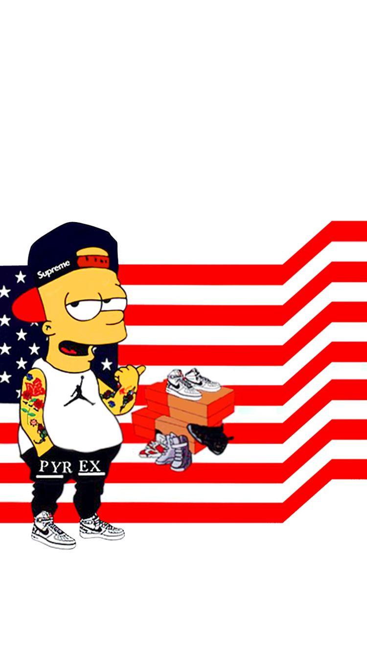 I Phone 6 Wallpaper White Bart Simpson Simpsons Art Bart Simpson Art Simpsons Characters