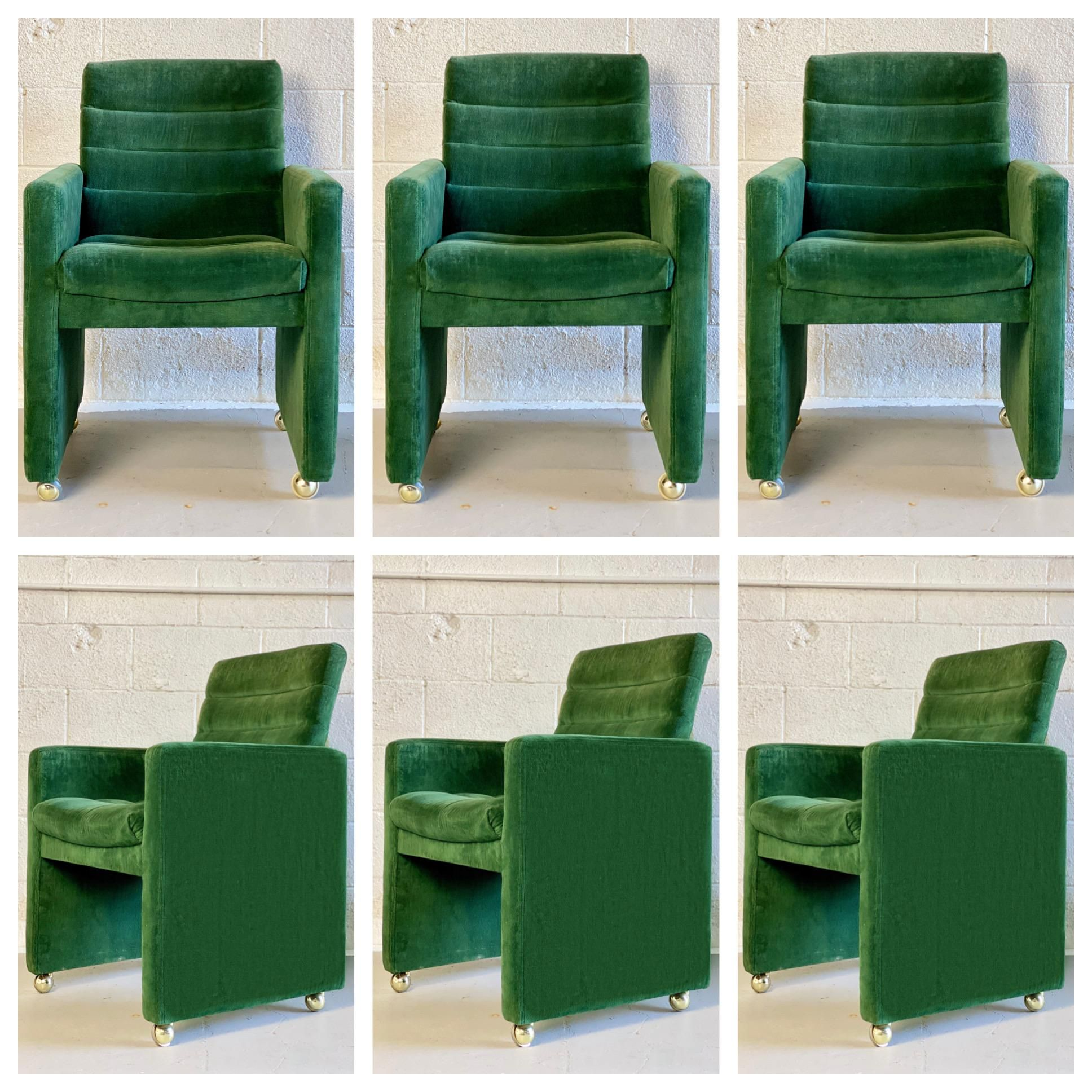 1970s Milo Baughman For Directional Dining Chairs On Casters A Set Of 6 Chairish Dining Chairs Chair Home Furnishings