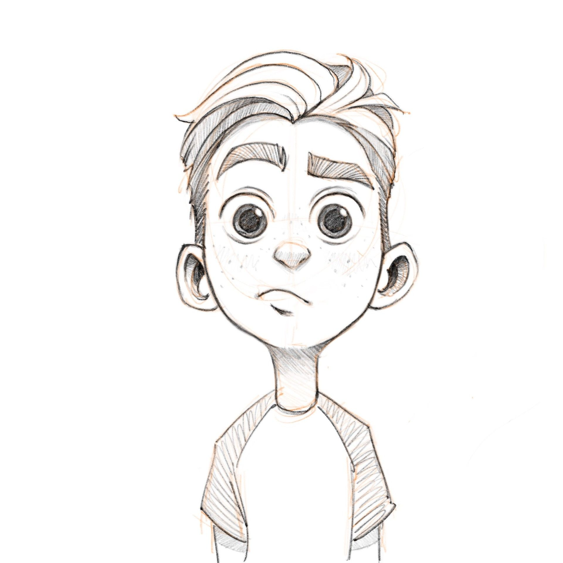 Artstation boy sketch noah demirci