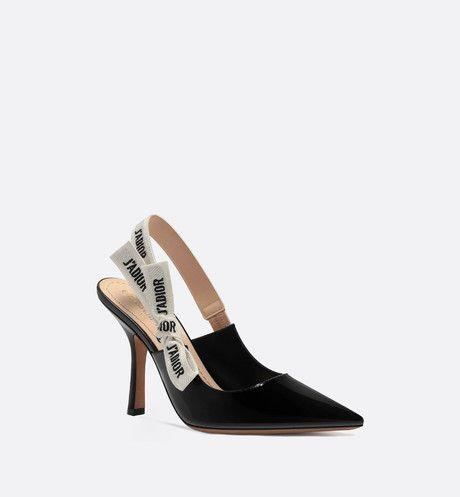 df119ed2cc2 J'Adior slingback in black patent calfskin leather in 2019 | Want ...