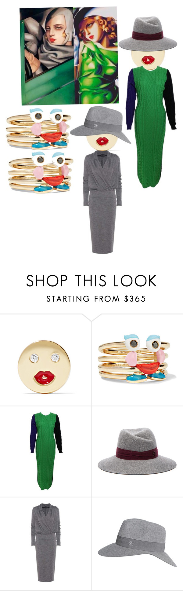 """Happy Tuesday"" by kit92 ❤ liked on Polyvore featuring Alison Lou, Versace, Maison Michel and Tom Ford"