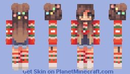 Minecraft Christmas Skins.Hanging Christmas Lights L қiოiyes L Minecraft Skin
