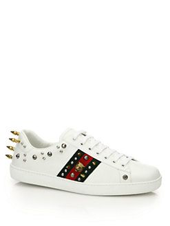 7c34e0522 Gucci - New Ace Punk Studs Low-Top Leather Sneakers | Shoes ...