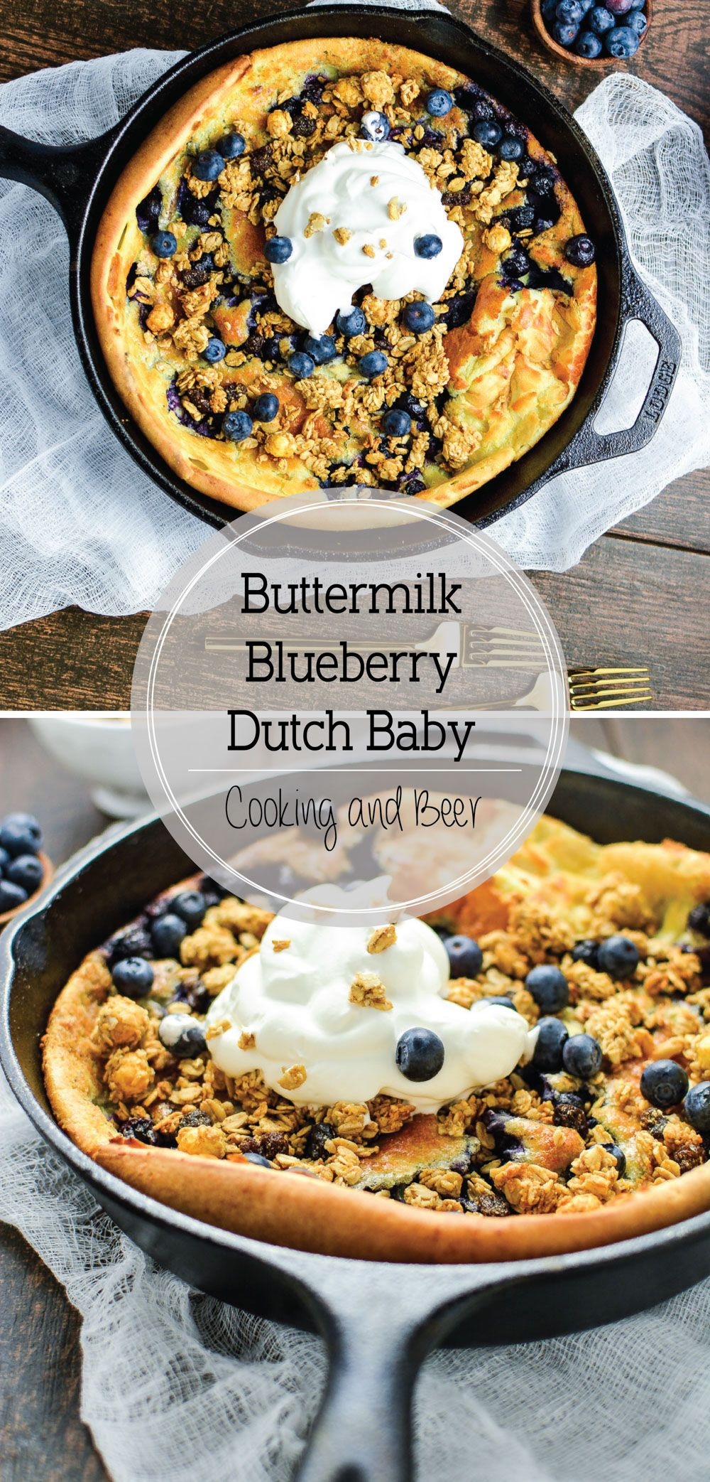 Buttermilk Blueberry Dutch Baby Pancake with Lemon Crema ...