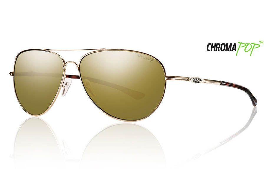 Smith - Audible Gold Sunglasses, Chromapop Polarized Bronze Mirror Lenses
