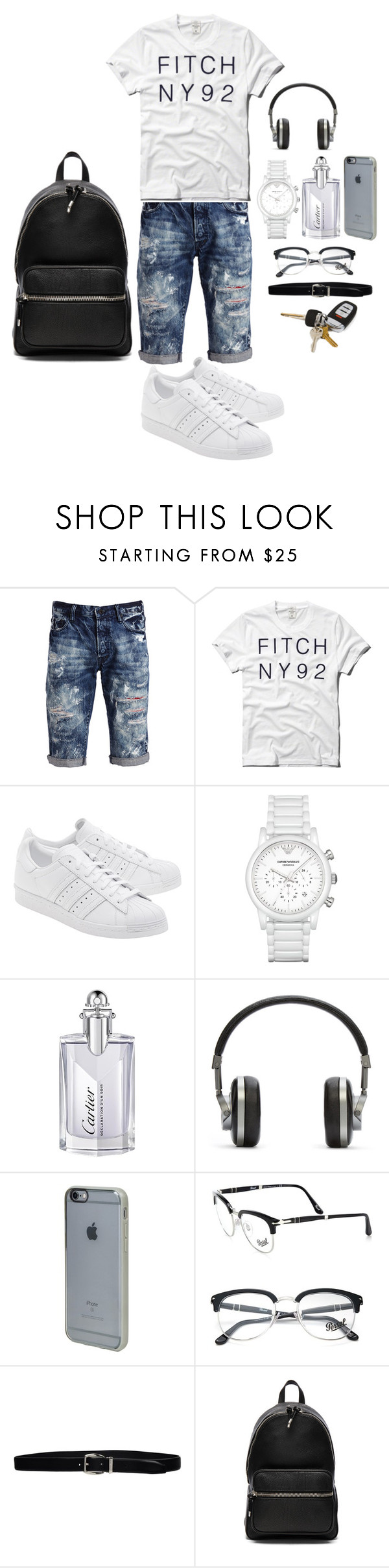 """Untitled #2371"" by mrkr-lawson ❤ liked on Polyvore featuring PRPS, Abercrombie & Fitch, adidas Originals, Emporio Armani, Cartier, Master & Dynamic, Incase, Persol, Giorgio Armani and Alexander Wang"