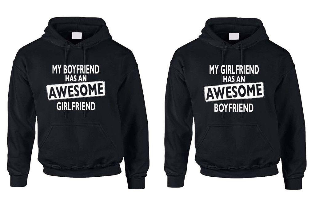 2c70eeef06e6c Awesome girlfriend Awesome boyfriend Couple Hooded sweatshirt Valentines  day men women love Couple matching Hoodies Valentine Day Boyfriend  Girlfriend ...