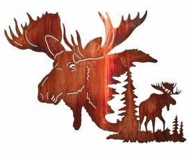 24 Yaak Bull Moose Metal Wall Art By Neil Rose Moose Wall Art Moose Silhouette Metal Wall Art