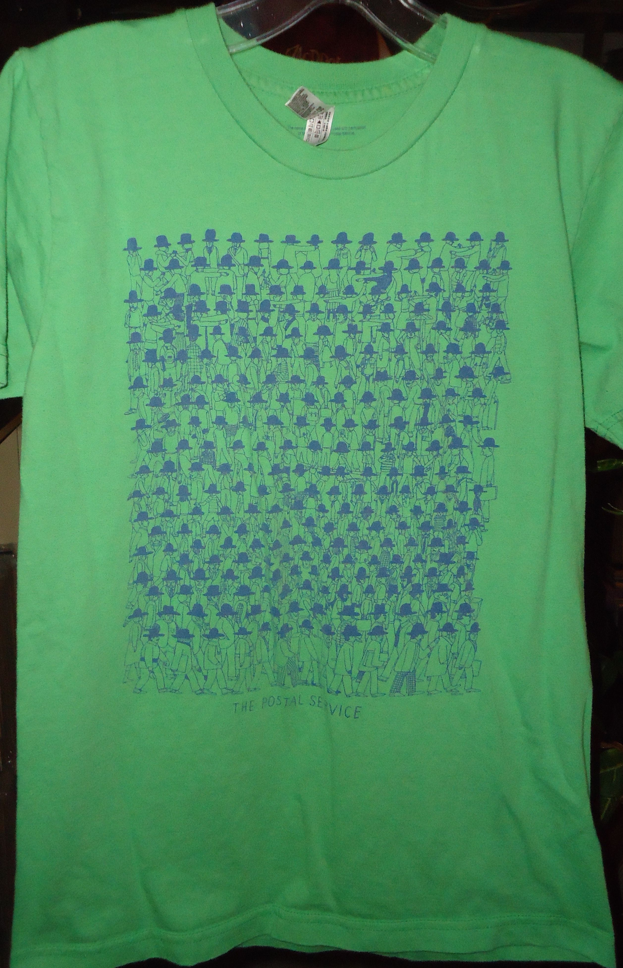 The Postal Service Vintage T Shirt Green Multiple