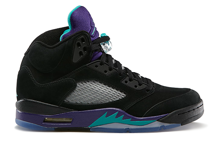 Supra 136027 007 Air Jordan 5 Retro Grapes Black New Emerald Grape Ice Black Women Men