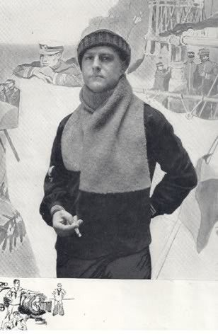 Ww1 Muffler Knitting Pattern 0006 Vintage Knitting 3 Pinterest