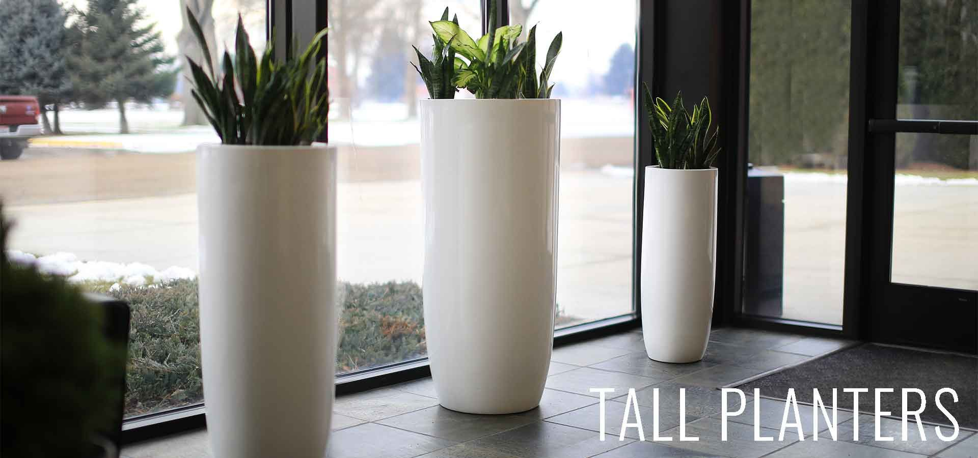 Modern Planter Pots Boxes Stylish Plant Containers Wholesale White Planters Tall White Planter White Planters Indoor