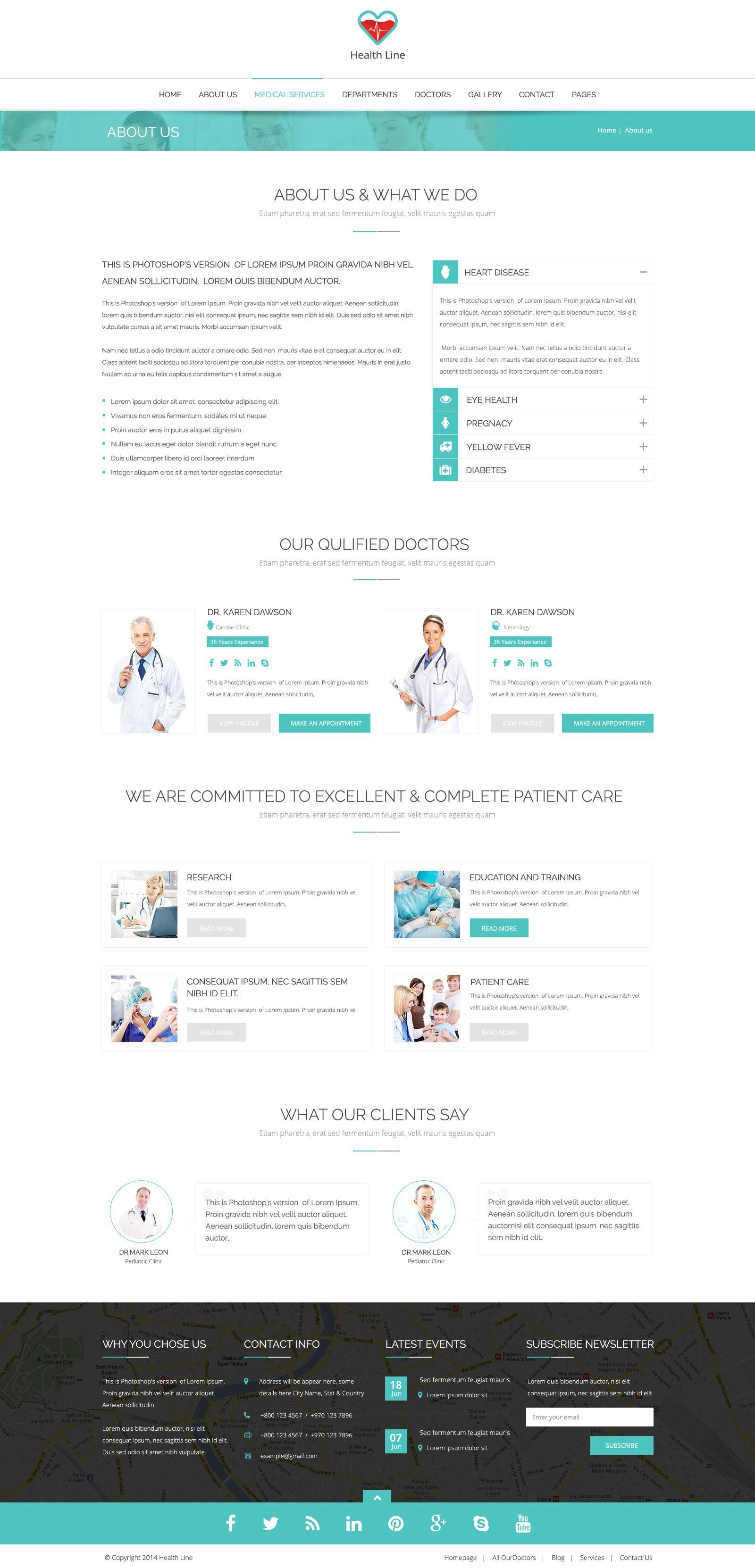 health line medic psd template line health medic template