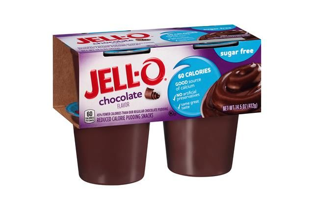 Jell O Chocolate Sugar Free Pudding Cups 14 5 Oz Sleeve 4 Cups Chocolate Pudding Cups Sugar Free Pudding Sugar Free Dark Chocolate