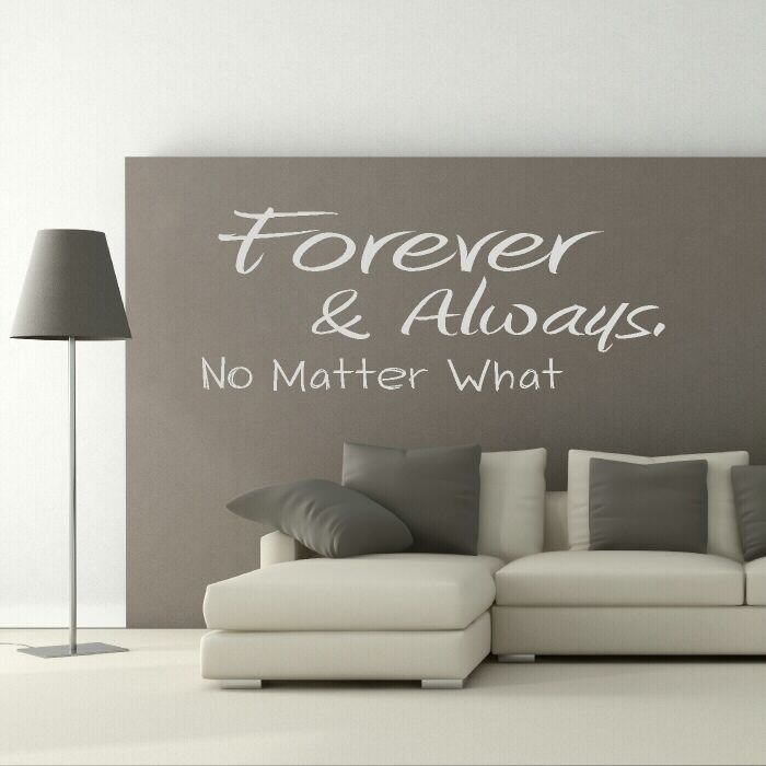 Cheap wall decals · family quotes · vinyl projects · forever quote