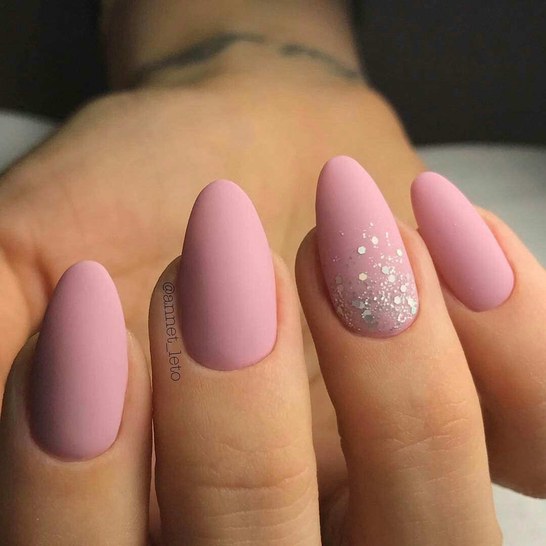Uroki Manikyura Vk Almond Nails Designs Pink Nails Pink Acrylic Nails