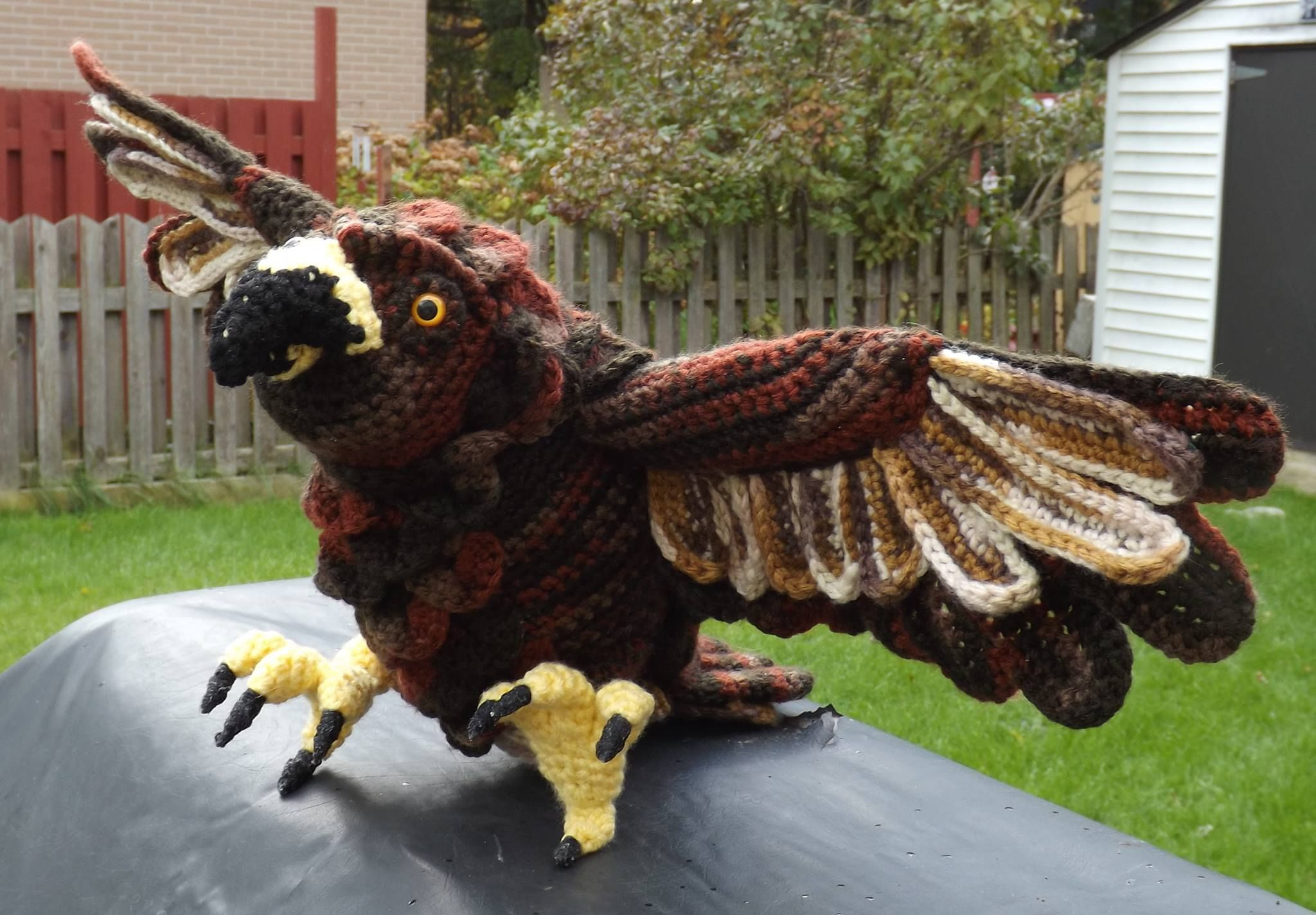 Eagle in crochet https://www.facebook.com/pages/The-Crochet-Crowd/116482731742088