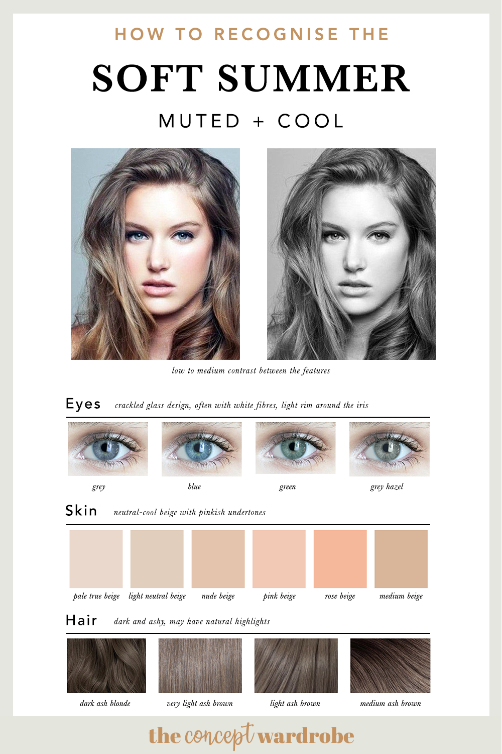 How To Recognise The Soft Summer Soft Summer Color Palette Soft Summer Color Analysis Summer