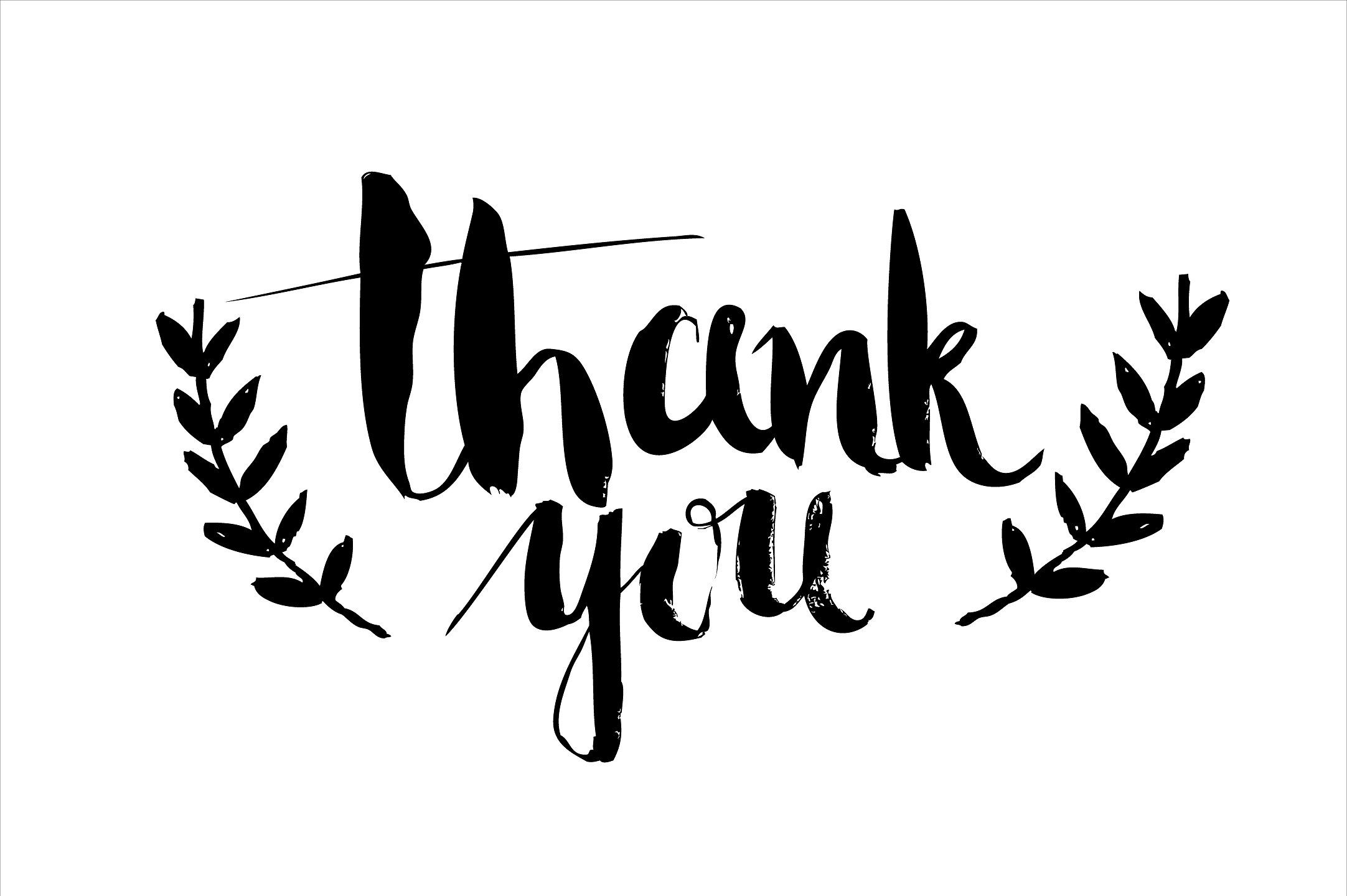 thank you calligraphy in vector by lyeyee on