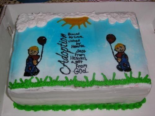 Adoption Party Cake Ideas Cakepins Com Adoption Cake Adoption