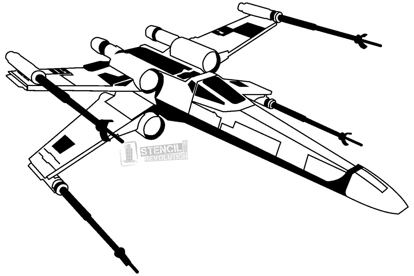X Wing Stencil Star Wars Tattoo Star Wars Silhouette Star Wars Stencil