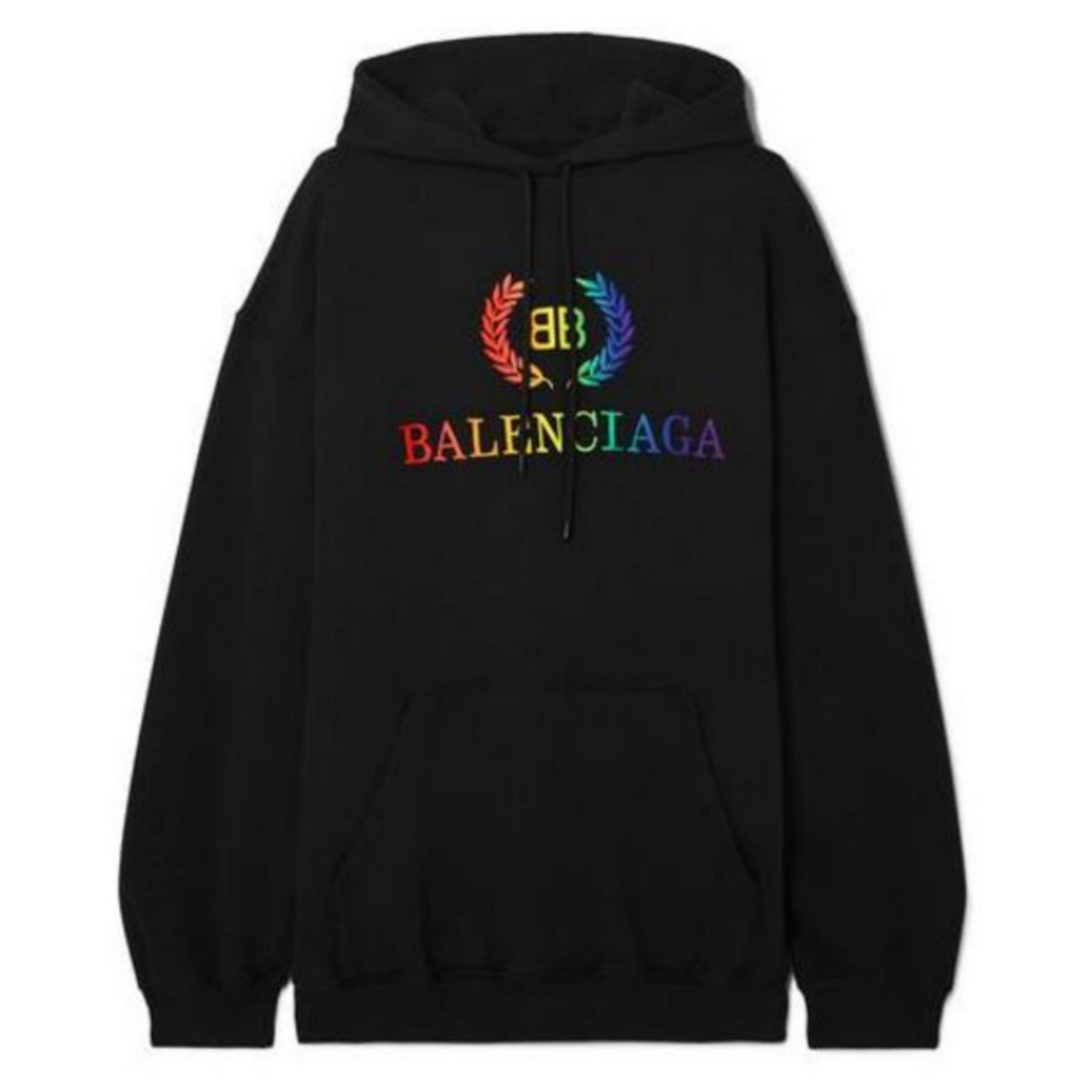Balenciaga Rainbow Logo Printed Sweatshirt Hoodie Bb31 Hoodies Printed Sweatshirts Sweatshirts Hoodie [ 2289 x 2289 Pixel ]