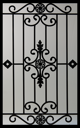 Wrought Iron Door Inserts   Dalemont 22x36