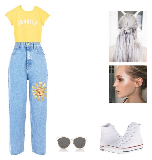 """""""Untitled #460"""" by kissesjaeee on Polyvore featuring MANGO, Christian Dior and Converse"""