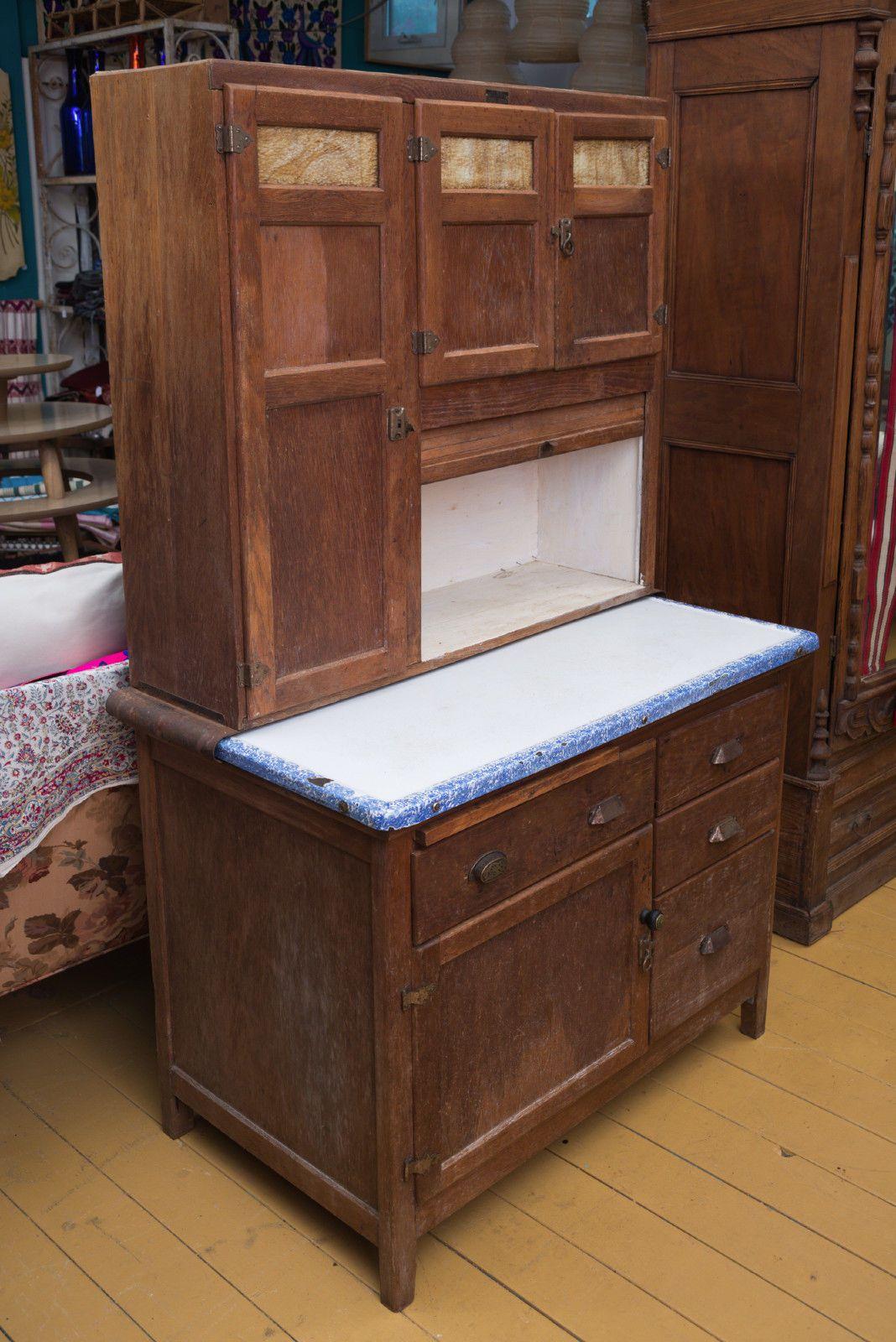 Best Kitchen Gallery: Antique Early 1900's Hoosier Style Wilson Kitchen Cabi Hoosier of Wilson Antique Kitchen Cabinet on rachelxblog.com