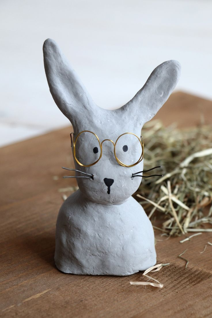 Photo of DIY: making rabbits with glasses from modeling clay – lavender blog
