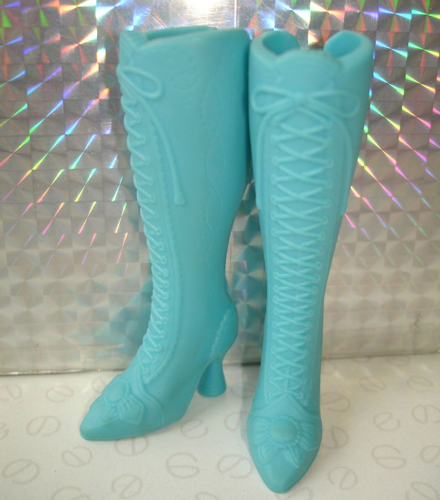 Genuine Barbie & My Scene Doll Accessories - Baby Blue Lace Up Detail Boots